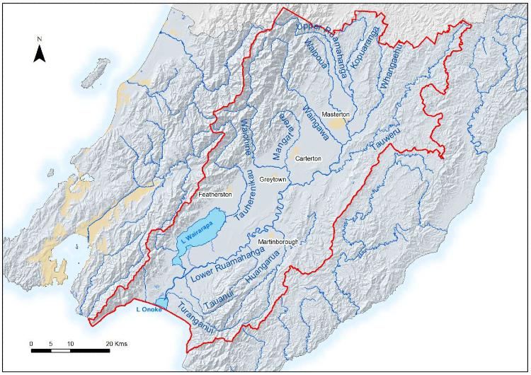 Gwc Ruamahanga Catchment Map Small
